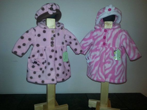 Check out this item in my Etsy shop https://www.etsy.com/listing/227330463/fleece-coats-with-hats