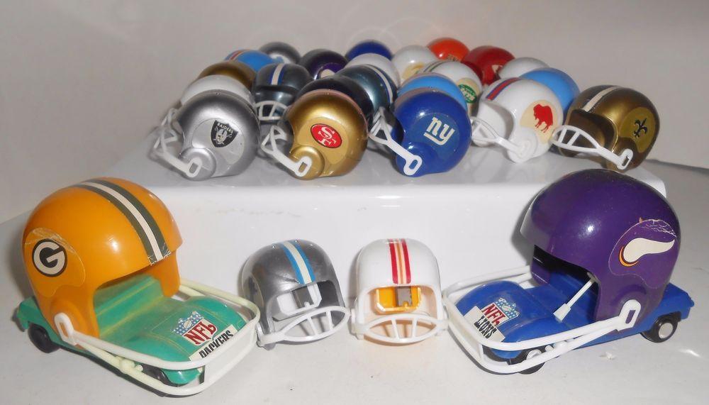 Miniature football helmet lot car buggy nfl gumball toys