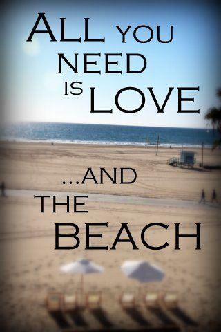'All you need is love…and the beach.'