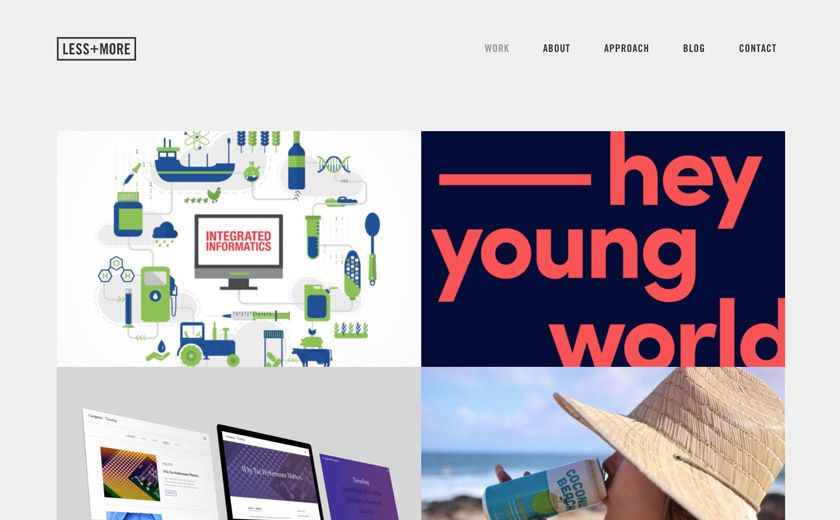 The Best Designs Web Design Inspiration Less More A San Diego Design Agency With Images Web Design Web Design Inspiration Design Inspiration