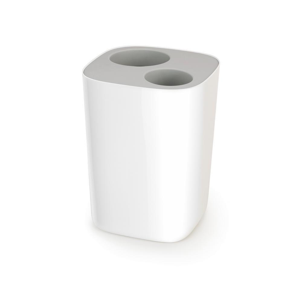 Joseph Joseph Split 2 Gal Bathroom Waste Separation Bin In Grey White White Grey With Images Recycling Bins Trash And Recycling Bin Joseph Joseph