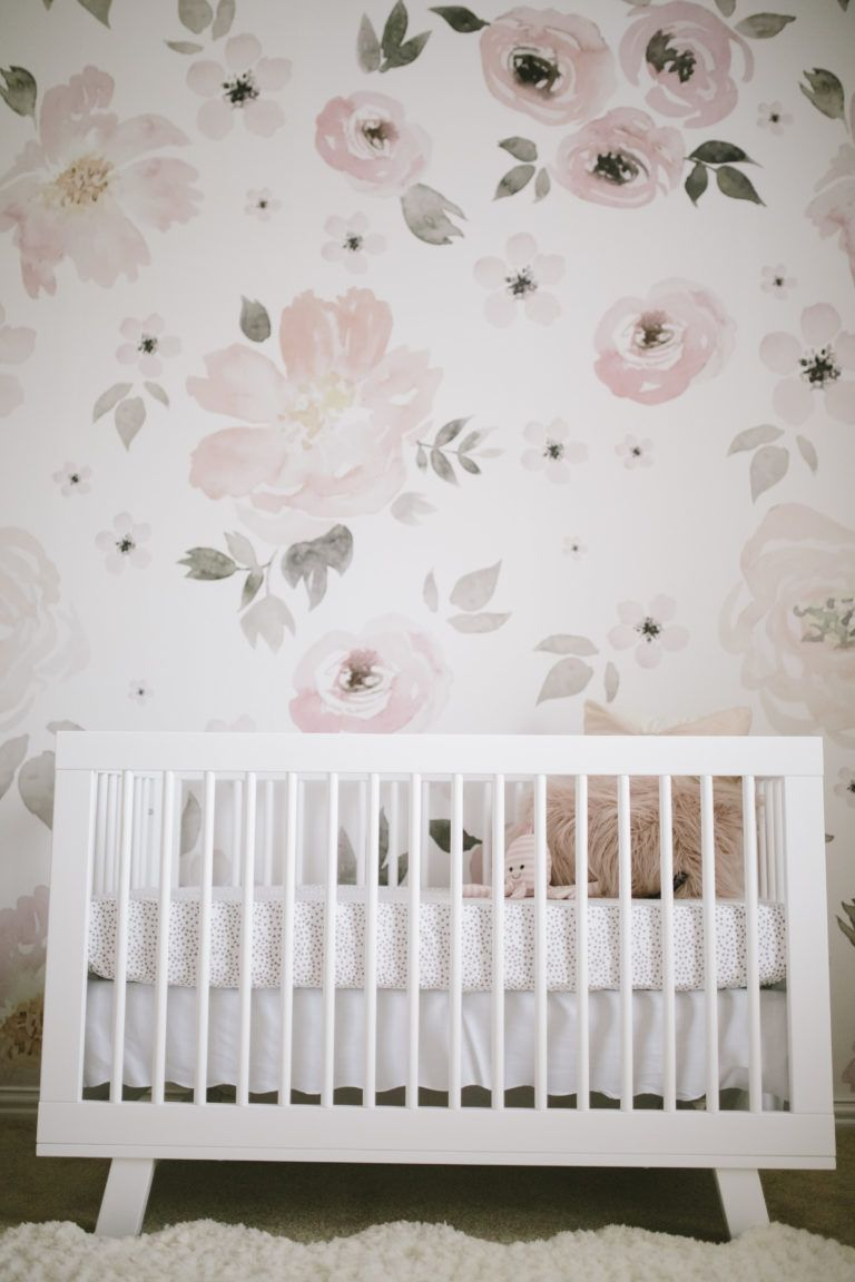 Harper\u0027s Floral Whimsy Nursery | Project nursery, Floral wall and ...