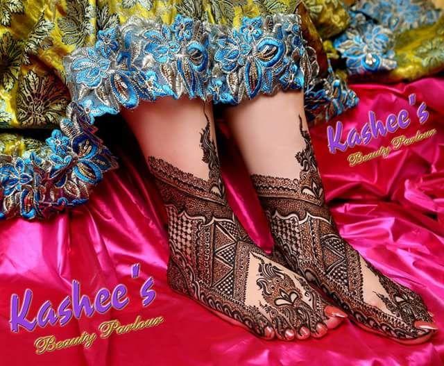 Bridal Mehndi Kashee S : Feet design by kashee s mehndi designs for