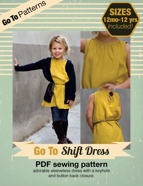 Go To Shift Dress   Dress sewing patterns, Sewing patterns and Girl toys