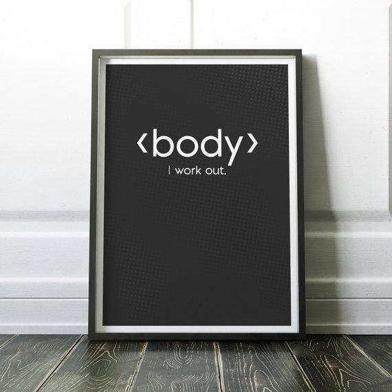 Body Html Code Print Art Print For Geeks Web Designers Wall Etsy Web Design Help Diy Blog Design Web Design
