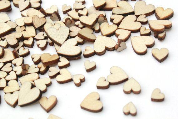 100 Tiny Wooden Hearts Wedding Confetti Heart Confetti Etsy Tiny Wooden Hearts Wedding Confetti Rustic Wedding Decor