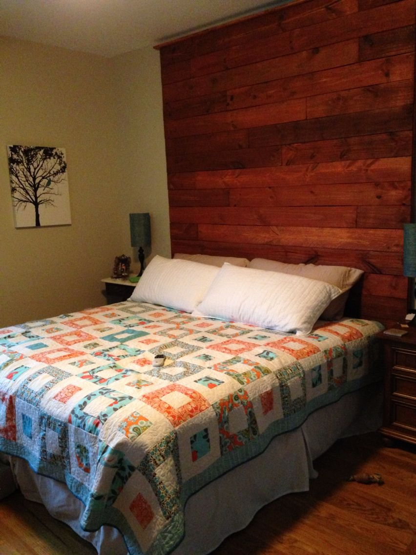 new style 18706 b0528 Headboard made from fence pickets with a 2x4 frame screwed ...
