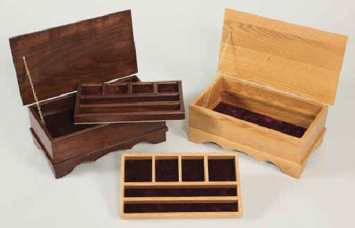 Jewelry boxes make a great gift for that special person in your life..