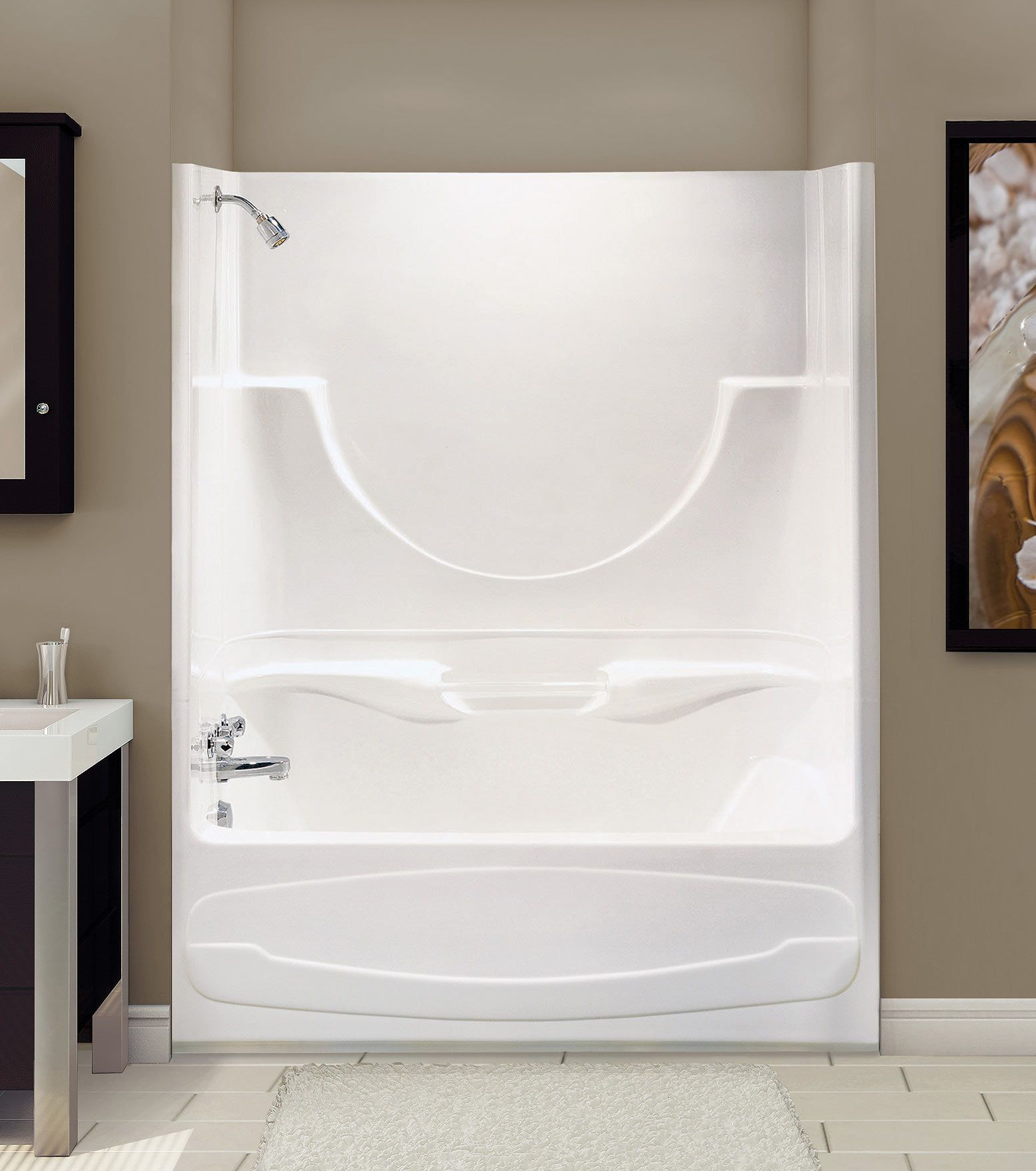 two piece shower tub unit. CONCERTO II Alcove Or Tub Showers Bathtub  MAAX Professional One Piece ShowerTub For