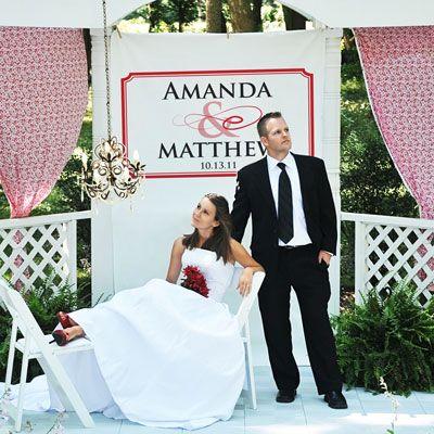 Personalized Custom For Wedding Flourish Photo Booth Backdrop