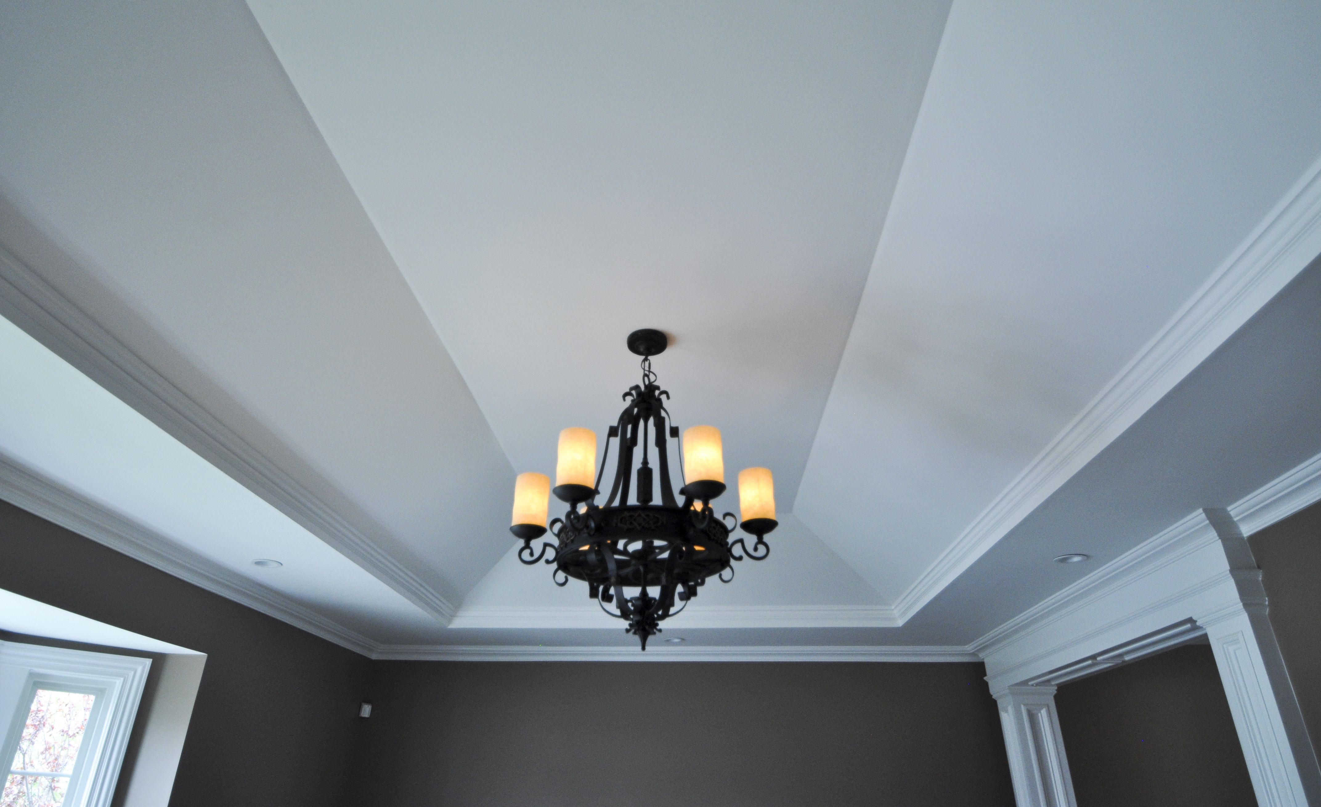 Soffit tray ceiling, with crown around entire area, and solid crown ...