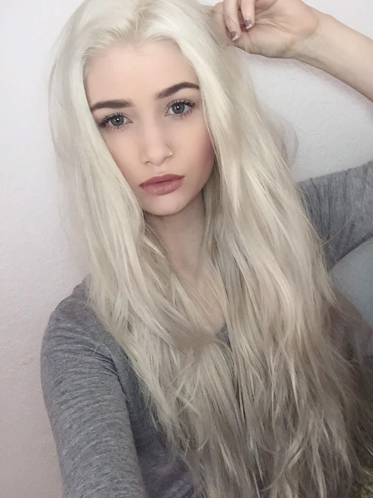 Pin by Eszter S. on Hair | White blonde hair, Pale blonde