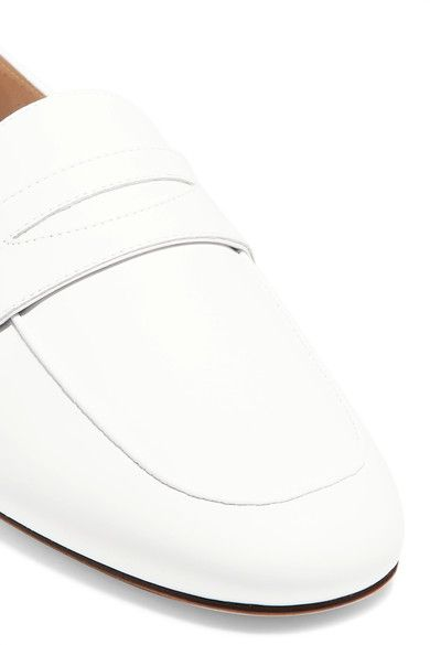 Mansur Gavriel - Classic Leather Loafers - White - IT36.5
