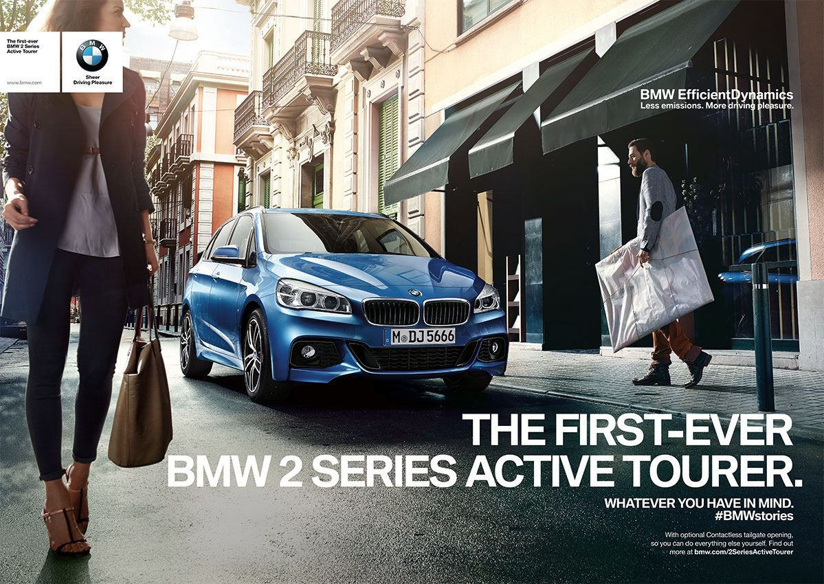 how does bmw advertise