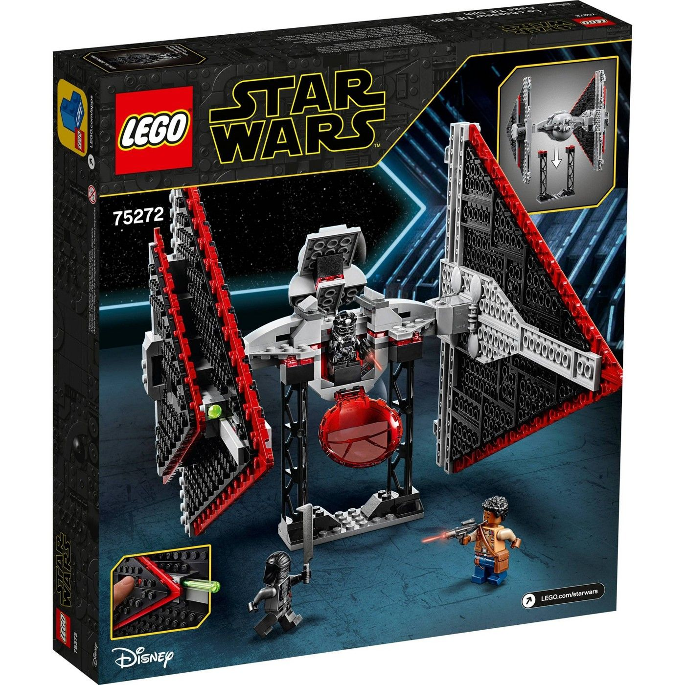 Lego Star Wars Sith Tie Fighter 75272 Collectible Building Kit Affiliate Sith Ad Tie Wars In 2020 Lego Star Wars Star Wars Sith Lego Star