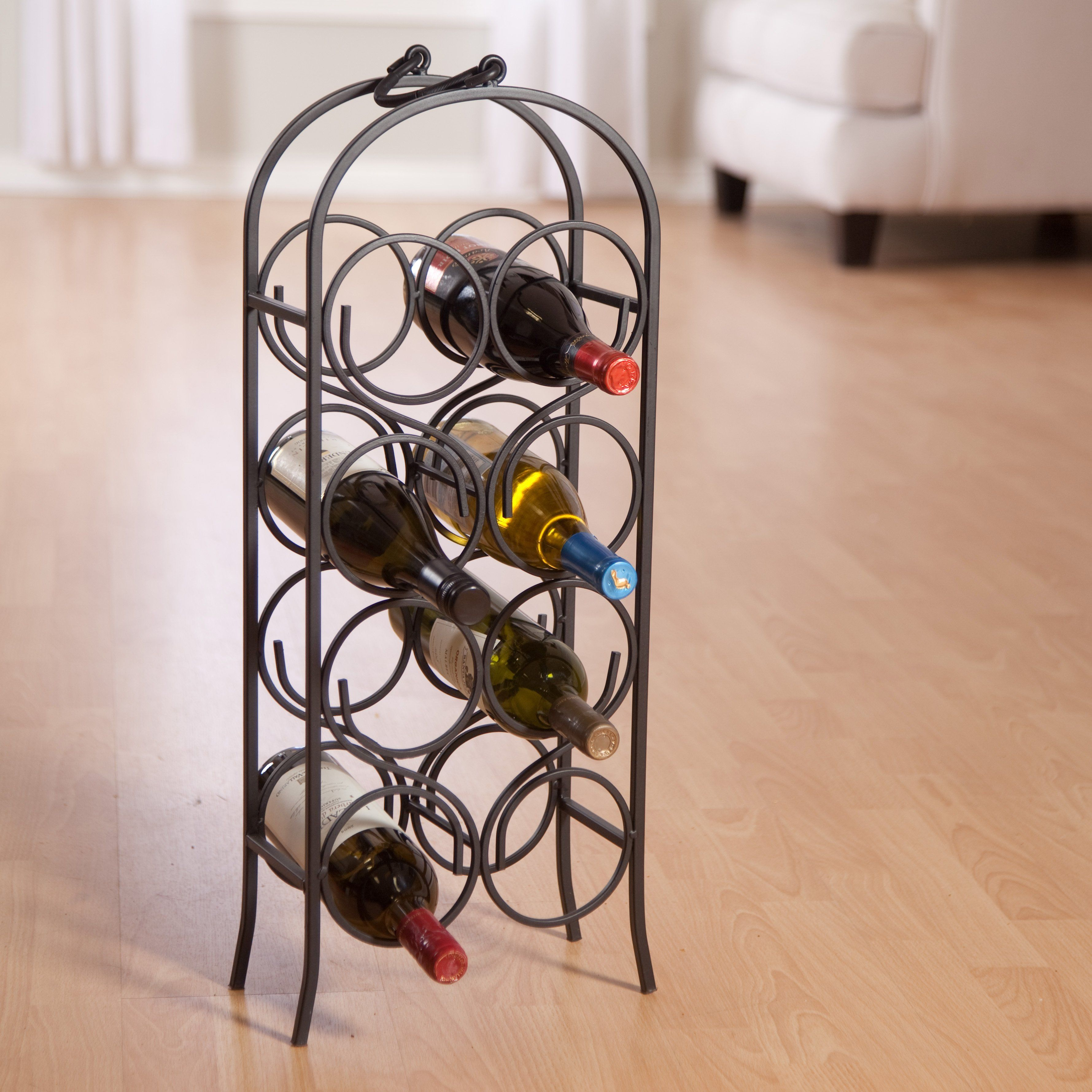 593 Wrought Iron Wine Rack And Bar Lot 593 Fer Forge Cage Recup
