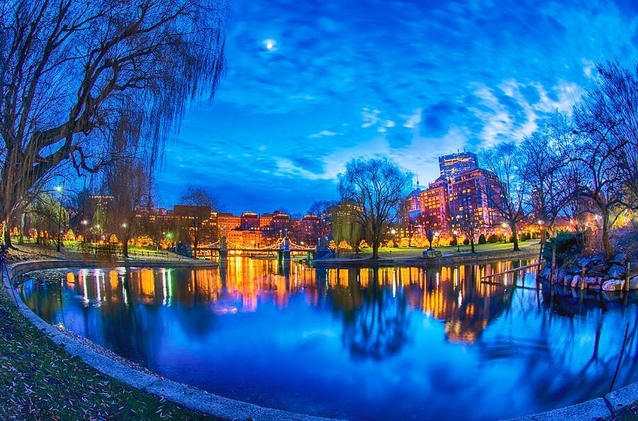 Boston Public Garden Lagoon Moon by #Boston photographer Joann Vitali Friends of the Public ...