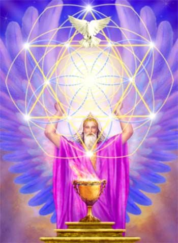 The beautiful Ascended Master Melchizedek | Copos,ángeles