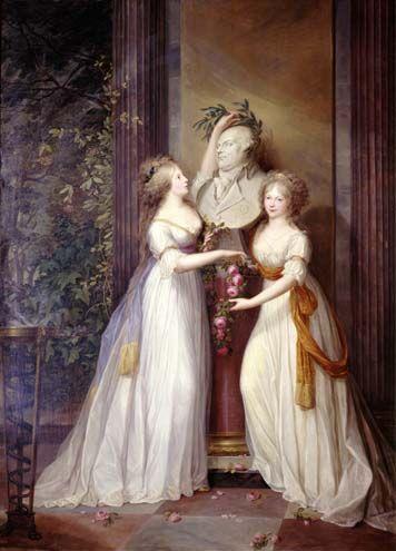 Luise und ihre Schwester mit dem alten König