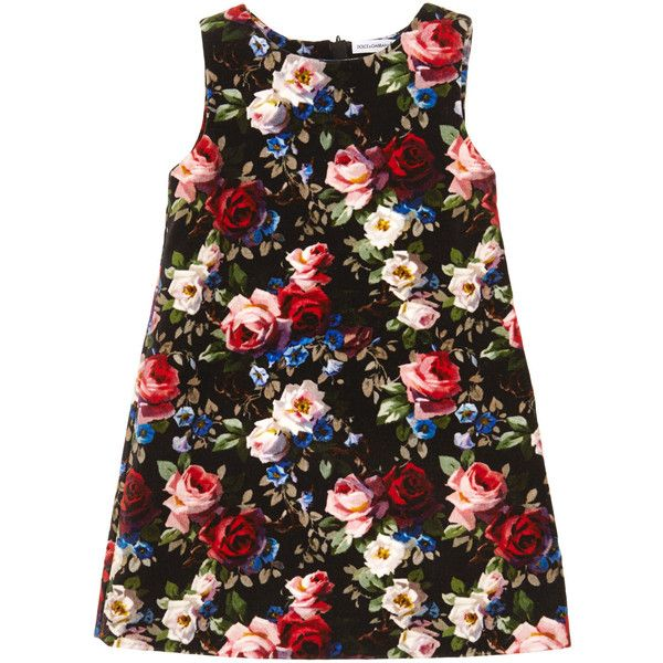 Dolce Gabbana Sleeveless floral dress (€375) ❤ liked on Polyvore featuring dresses