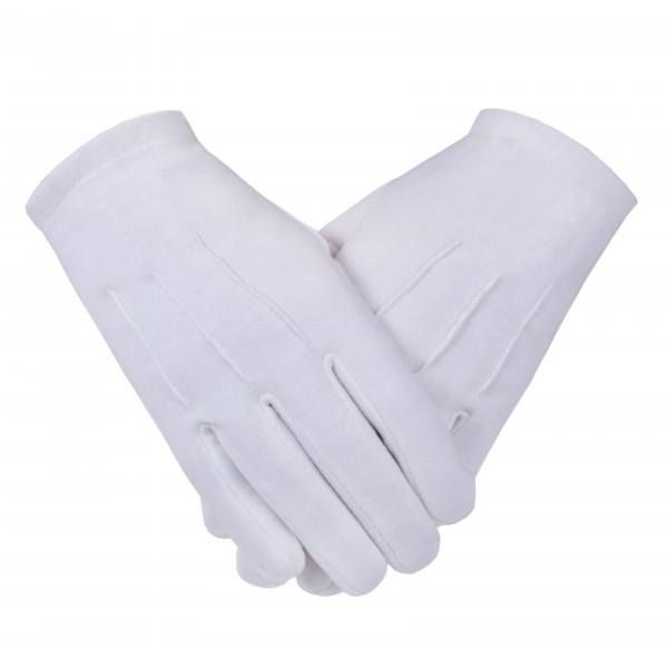 Freemason Masonic Gloves  in Plain White Cotton