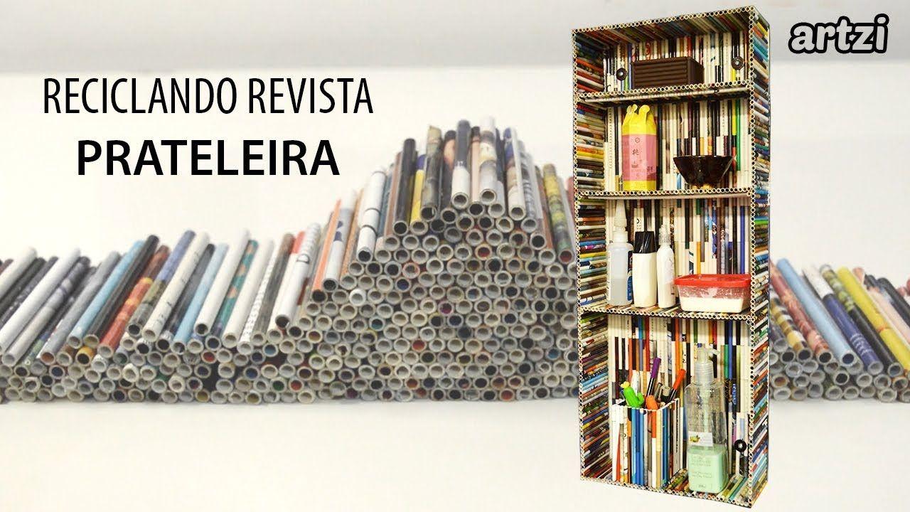 Artesanato Com Revistas Estante Com Prateleiras Revista