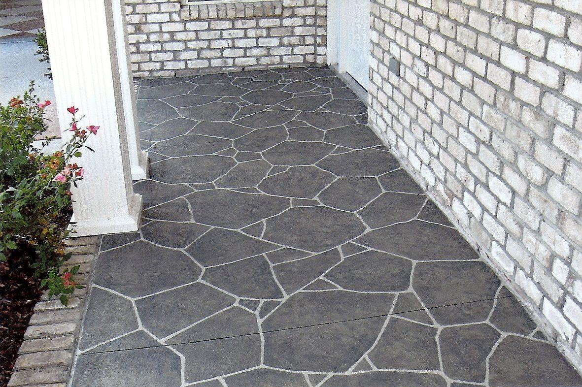 Painted Concrete Look. Painting Concrete Porch, Diy Concrete Patio, Concrete  Patio Designs,