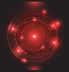Beautiful Red Glowing Circle Light Circle Light Christmas Lights Background Glowing Background