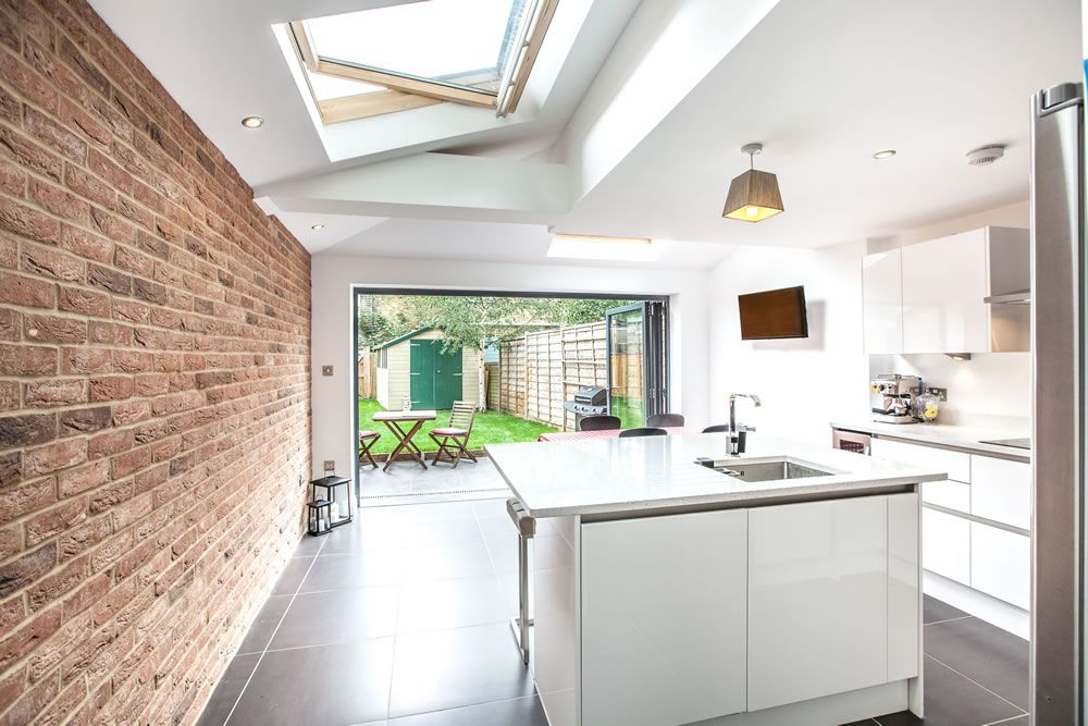 Single storey extension on victorian terraced property in for Kitchen ideas terraced house