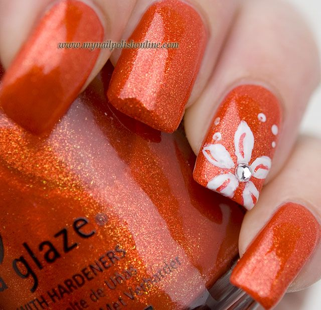 Nail Art with China Glaze Riveting | White nails, Nail polish online ...