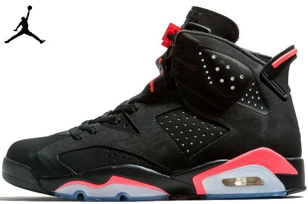 huge selection of 2a01f 5e3b0 Nike Air Jordan 6 Retro Black Infrared