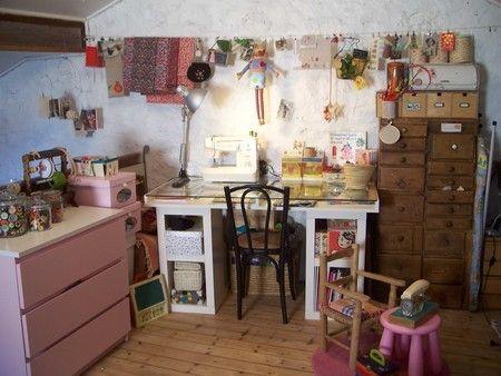 Des id es pour un bel atelier for the home room crafts et studio - Salon des travaux manuels ...