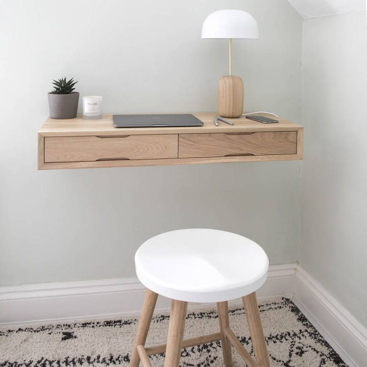 The Minimalist Desk, Perfect For A Tiny Space !