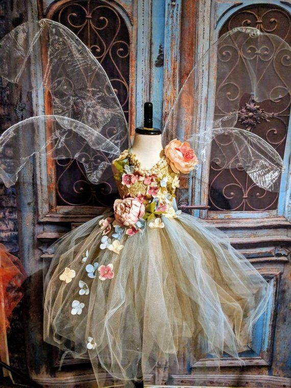 Ätherische Erde Gaia Fee Kostüm Kleid, romantische Blätter Blume Fee Kleid, Fee Geburtstagskleid, Fee Festival Kleid, Blumenmädchen Kleid #dollcare