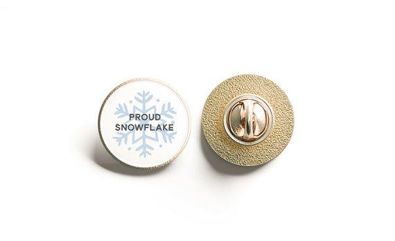 Proud Snowflake Pin, Lapel Pin, Liberal Snowflake #adventlustigerster