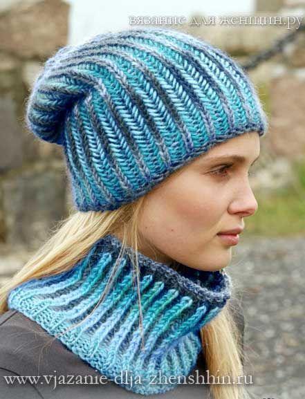 вязаные шапки спицами вязанные шарфы шапочки Pinterest