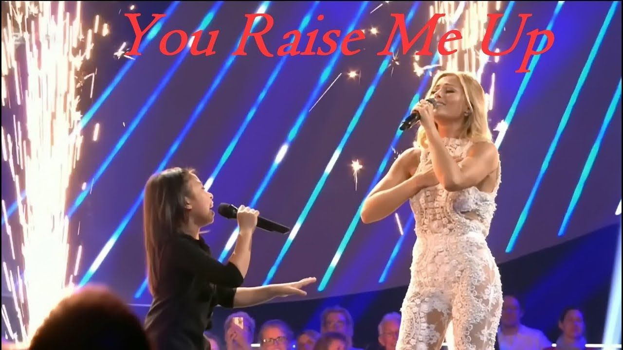 Tap Photo For Video Celine Tam Helene Fischer Amazing Duet Interview You Raise Me Up Family Of The Year Singer Celine