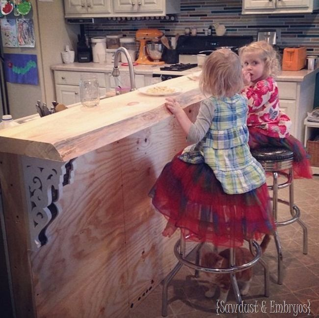 Diy Breakfast Bar Frame Built To An Existing Kitchen Island: DIY Corbels For A Breakfast Bar