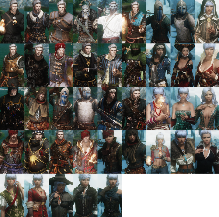 Witcher 3 Armor Mods | Interest - Misc | Witcher armor, Skyrim armor