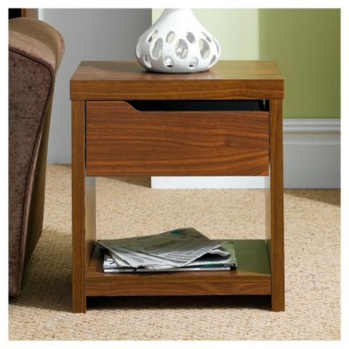 Seattle Side Table Walnut Effect