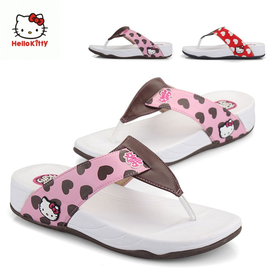 4713b3b4b Adult Hello Kitty Flip Flops | hello kitty shoes for women | Flippy ...