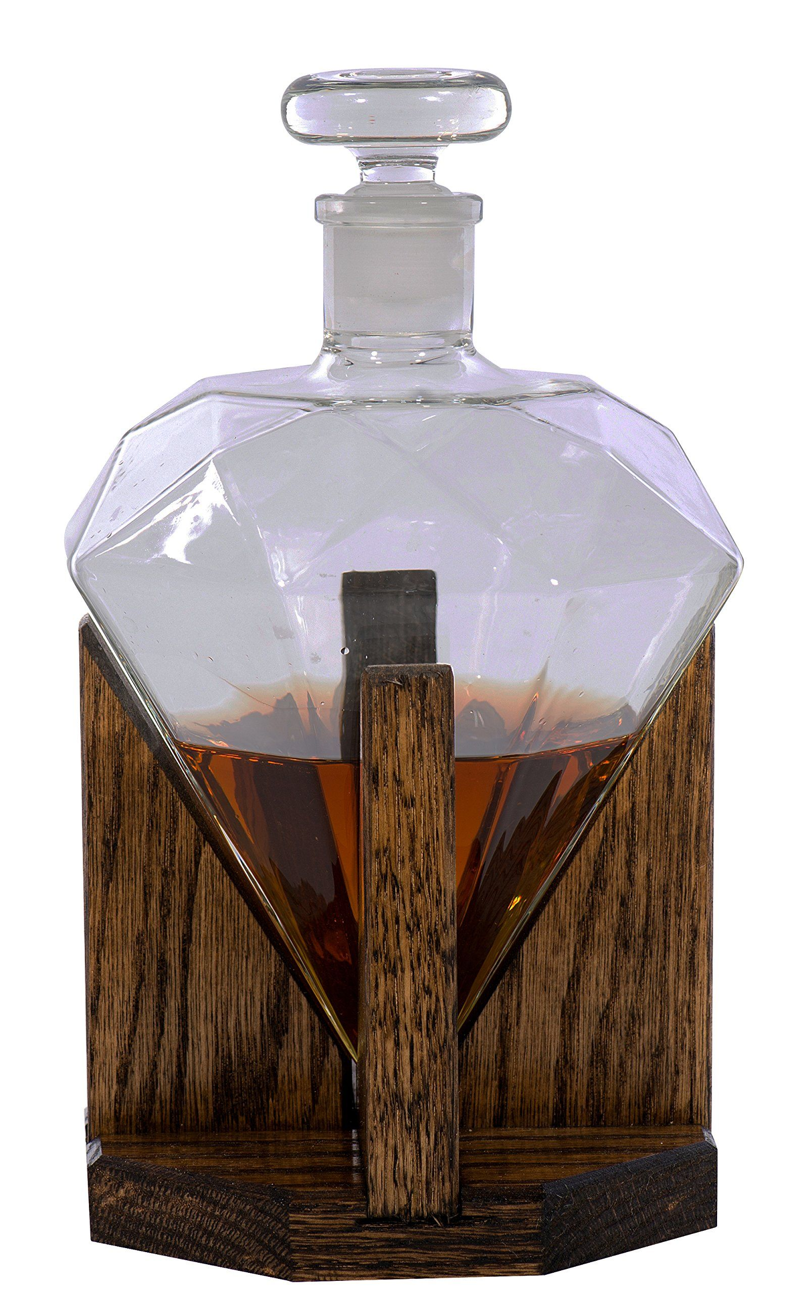 Rum Glas Diamond Whiskey Decanter 1000ml Glass Liquor Decanter