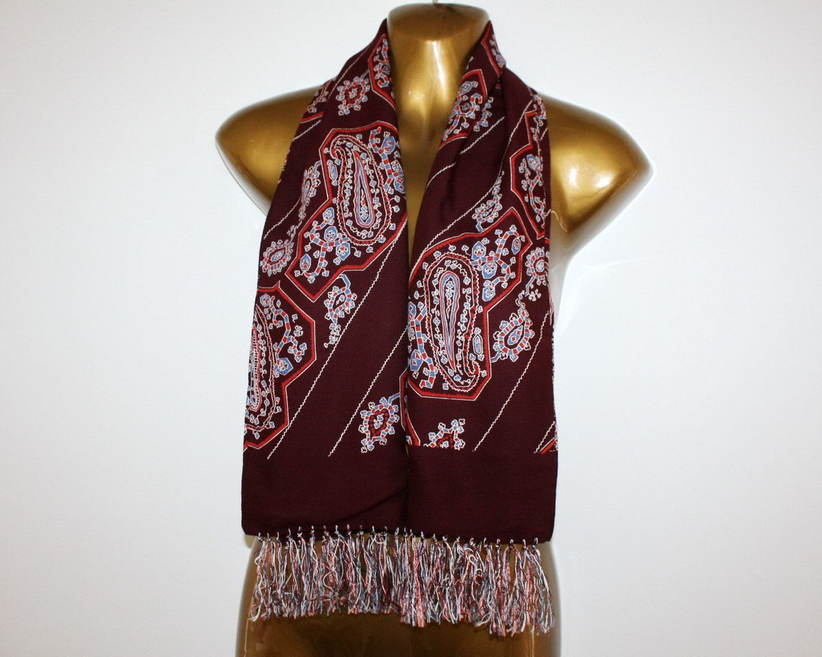 neck scarves for men silk | Elegant Men Fringed Silk Neck ...