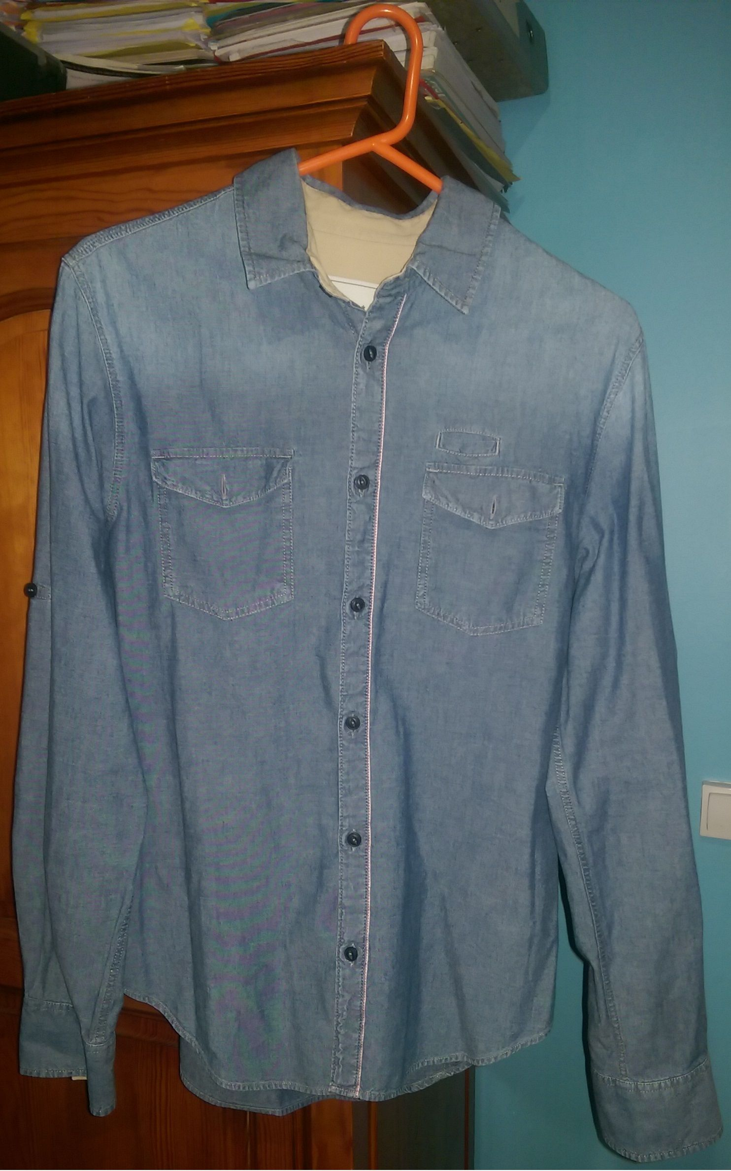 Chemise bleu jean CELIO (Relax Collection) Taille M   Meh Discount ... 6fc16cc7a93f