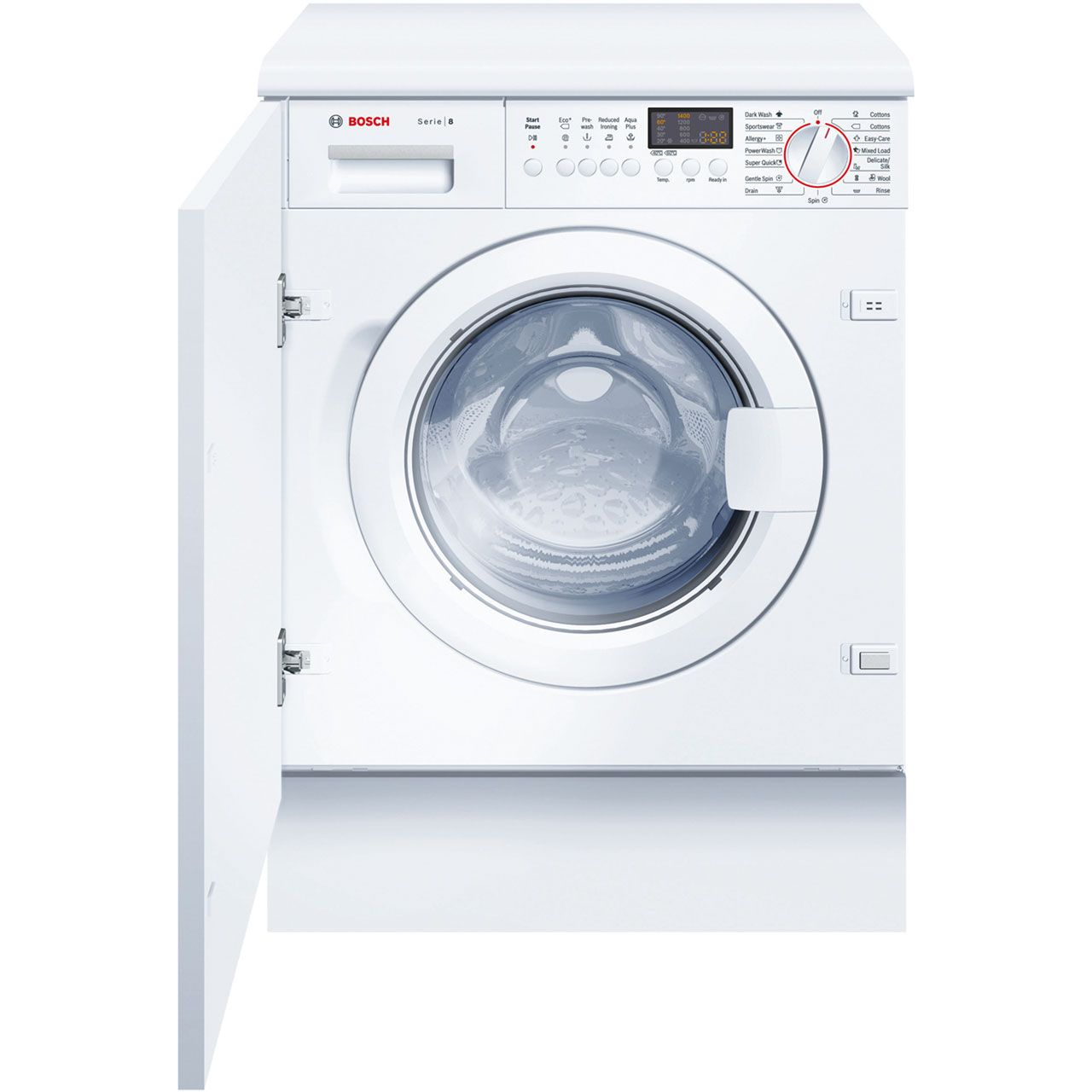Bosch Serie 8 WIS28441GB Integrated 7Kg Washing Machine with 1400 ...