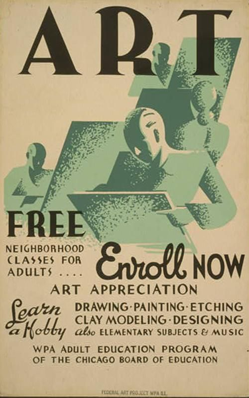 Wpa Art Classes Free Neighborhood Classes For Adults Chicago