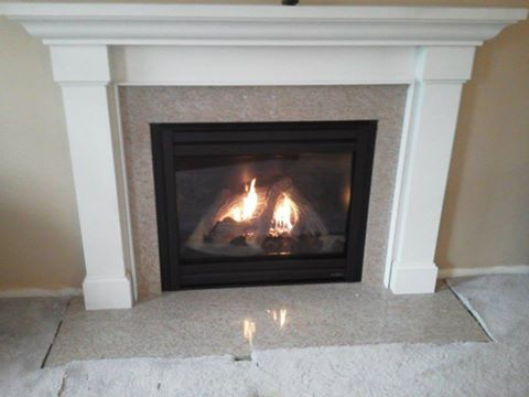 Heat N Glow Gas Fireplace With Kenwood Mantle And Granite