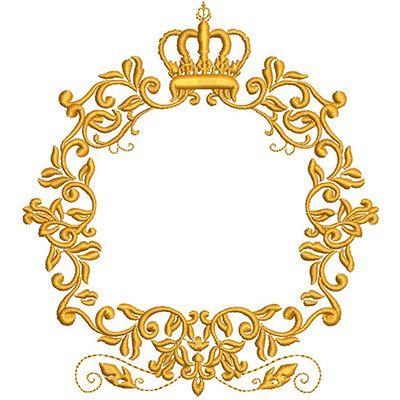Molduras Monogramas Monograma Arabesco Dourado Png Molduras