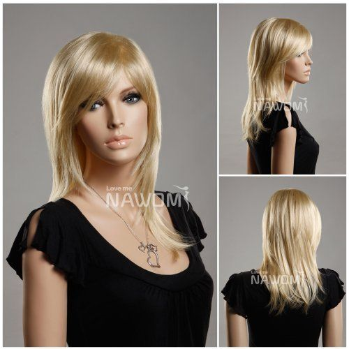 (WG-ZL349A-613E) Long Straight Hair Wig, Sunny blonde color. by Roxy Display. $19.99. Long Straight Hair Wig, Sunny blonde color.. Material:Synthetic fiber of 100% Kanekalon Length:48cm Color: Sunny Blonde Weigth:117g Cap size:Adjustable up to 56cm  head circumference Product Highlights:Breathable, was tied to braid. Looks very natural and feels like that. Comfortable wearing due to its light weigth. Easy to wash