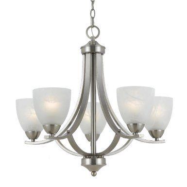 Amazon Com Triarch 33293 5 Light Value Large Chandelier Satin